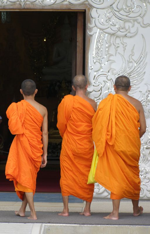 Monks at Wat Rong Kun, Thailand